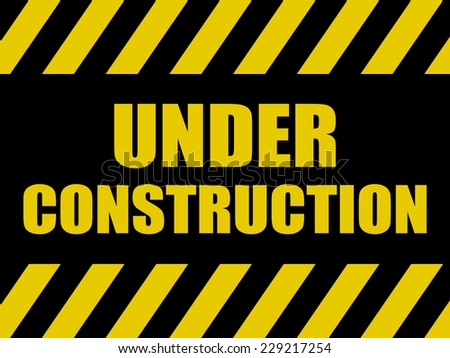 Under Construction Background - stock vector