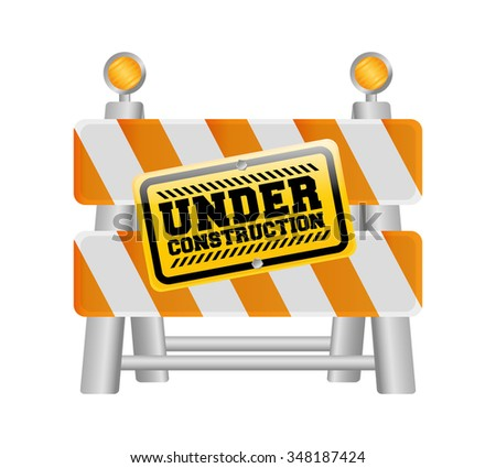 Under construction barrier design, vector illustration eps10 graphic