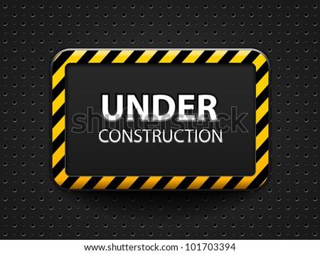 Under construction block-vector - stock vector