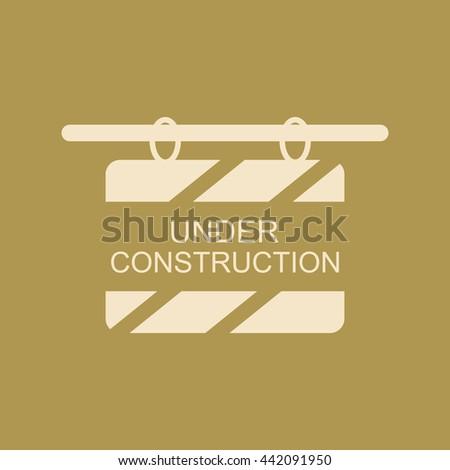 Under Construction Board Icon.  - stock vector