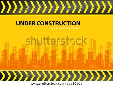 under construction - city vector - stock vector