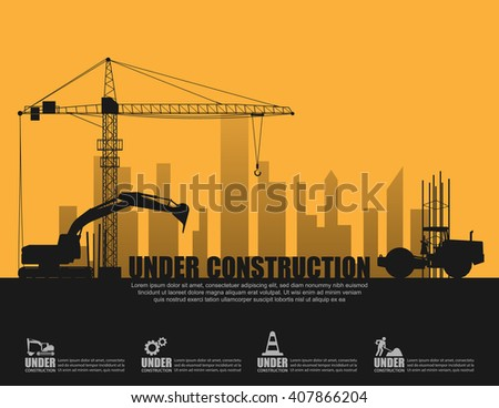 Under construction concept,Vector  - stock vector