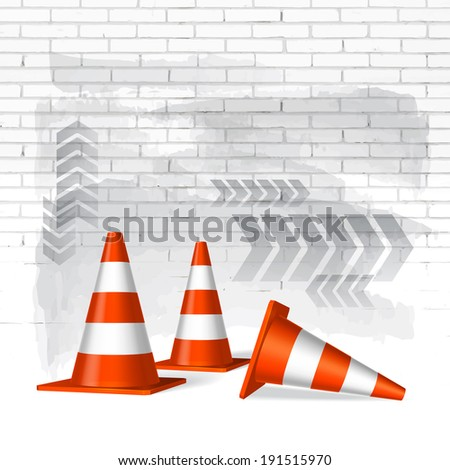 Under construction concept vector background - stock vector