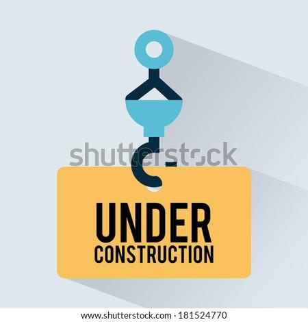 under construction design over blue background, vector illustration - stock vector