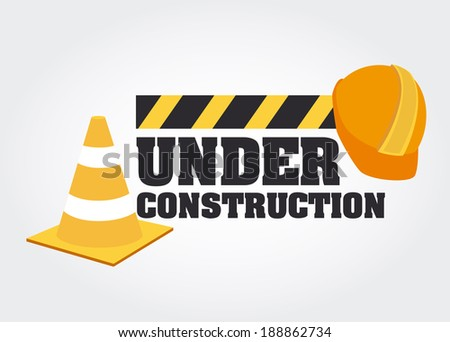 Under construction design over gray background, vector illustration