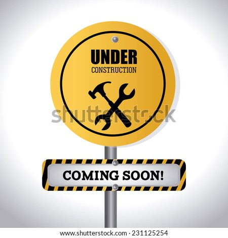 Under construction design over white background,vector illustration - stock vector