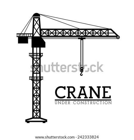 Under construction design over white background, vector illustration. - stock vector