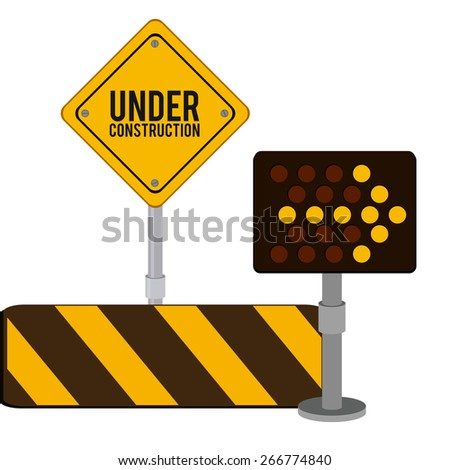 Under Construction design over white background, vector illustration