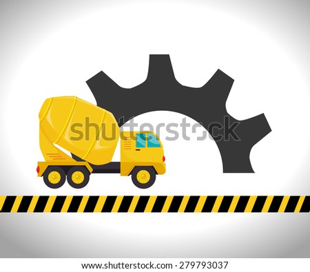 Under construction design over white background, vector illustration.