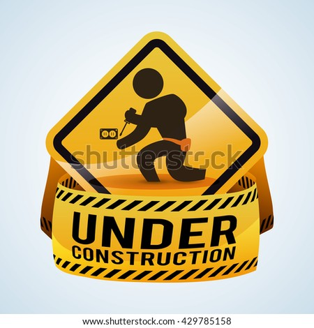 Under construction design. tool icon. isolated illustration