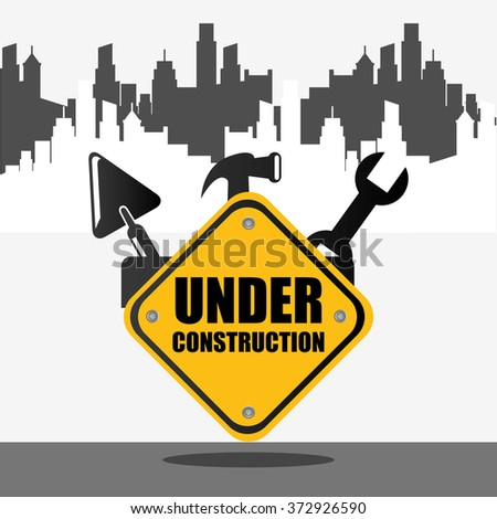 under construction design, vector illustration eps10 graphic  - stock vector