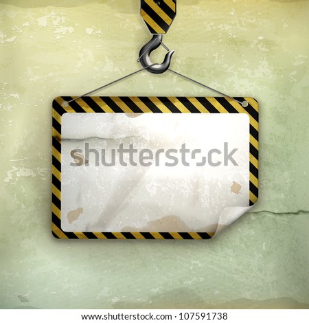 Under construction frame, old-style vector - stock vector