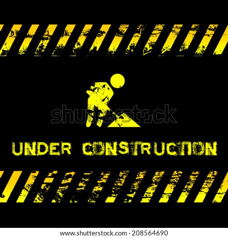 Under construction - grunge illustration with icon suitable for websites - stock vector