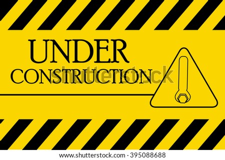 Under Construction Industrial Sign, Vector Illustration.