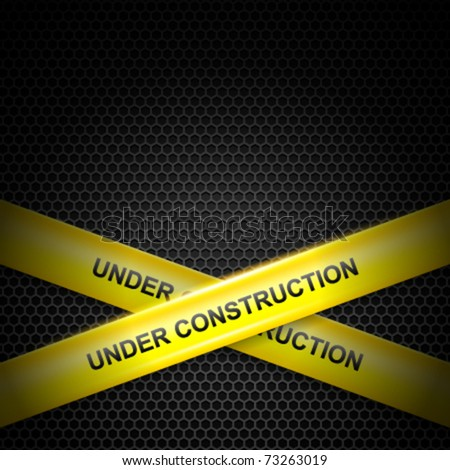 Under construction lines vector background. Eps 10. - stock vector