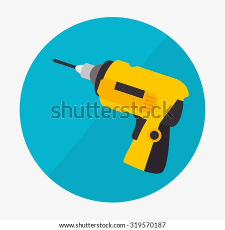 Under construction machinery and equipment design, vector illustration.