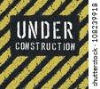 Under construction message on asphalt background. Vector, EPS8 - stock vector