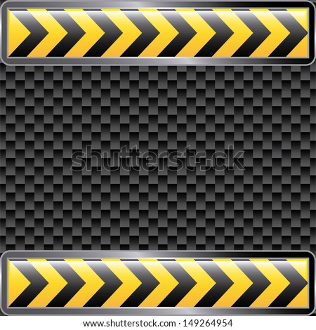 under construction ribbons over black background vector illustration  - stock vector
