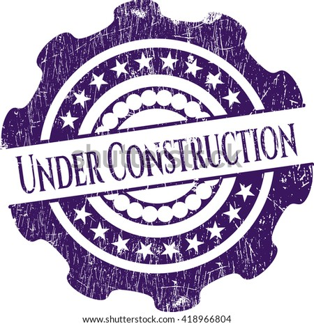 Under Construction rubber stamp - stock vector