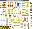 Under Construction Sign Collection. Around 100 object, icon isolated on white VECTOR - stock photo