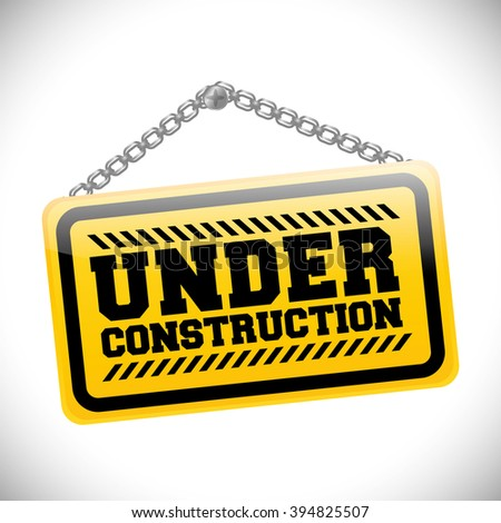 Under construction sign design
