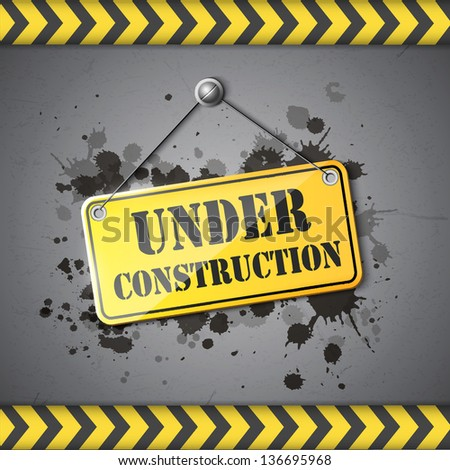 under construction sign eps10 - stock vector