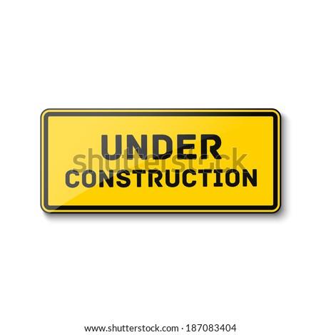 Under construction sign. Vector illustration - stock vector