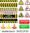 Under construction signs. Vector Illustration. EPS10 - stock vector