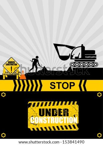 under construction, vector - stock vector