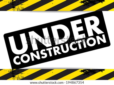 Under Construction Vector Stock Vector 198188666 ... Under Construction Logo