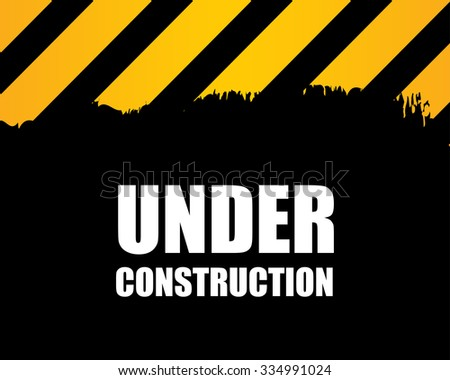 under construction - vector background - stock vector