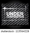 Under construction - vector grungy illustration. eps10 vector - stock vector