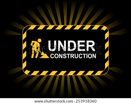 Under construction web background / landing page graphic - stock vector