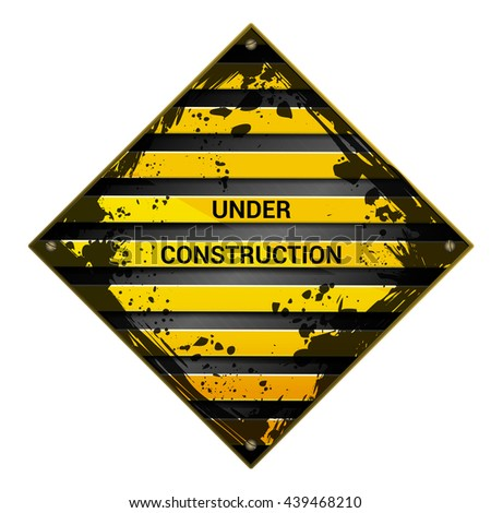 under constructions sign - stock vector