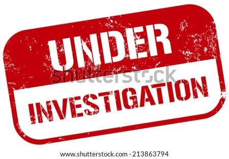 under investigation stamp - stock vector