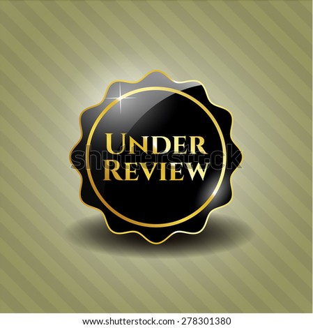 Under review black badge - stock vector