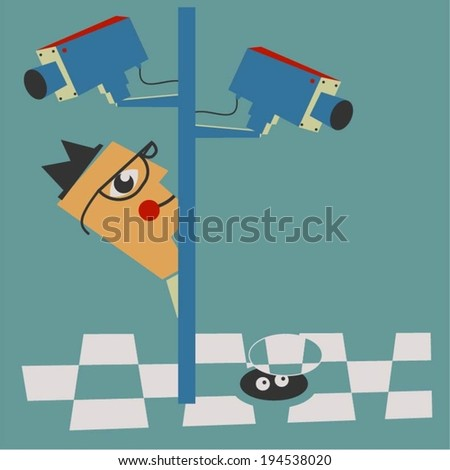 Under the radar - stock vector