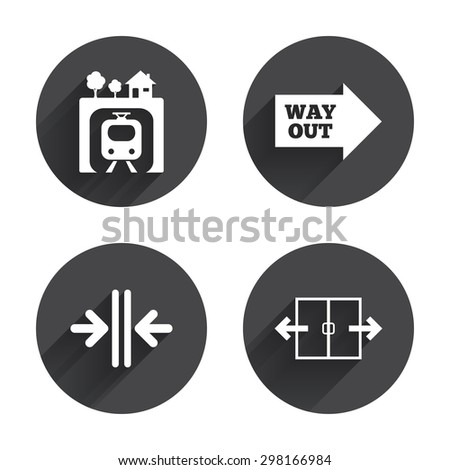 Underground Icon Vector Underground Metro Train Icon