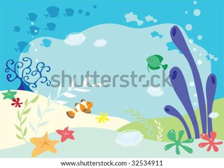 Undersea background - stock vector