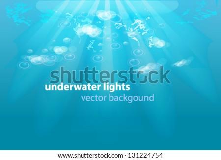 underwater lights - stock vector
