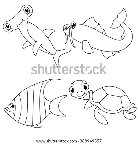 Sea Animal Outline Stock Images Royalty Free Images Vectors