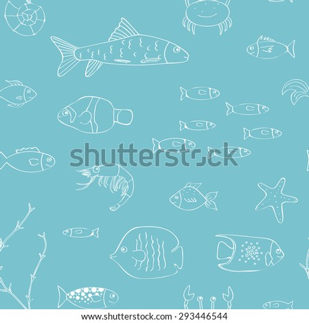 Underwater seamless background - stock vector