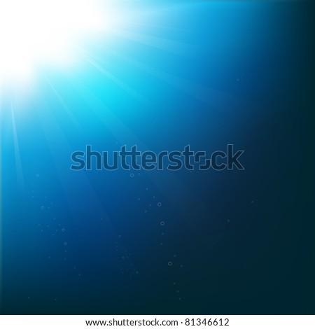 Underwater, Vector Illustration - stock vector