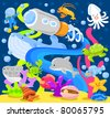 Underwater World - stock vector