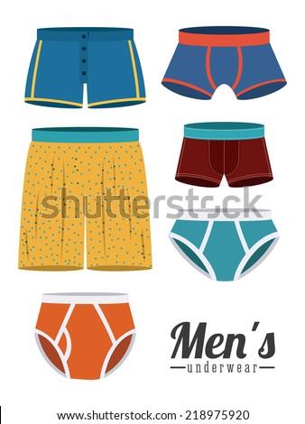 Underwear design over white background,vector illustration - stock vector