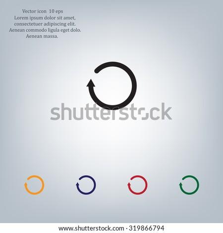 Undo icon, back arrow symbol - stock vector