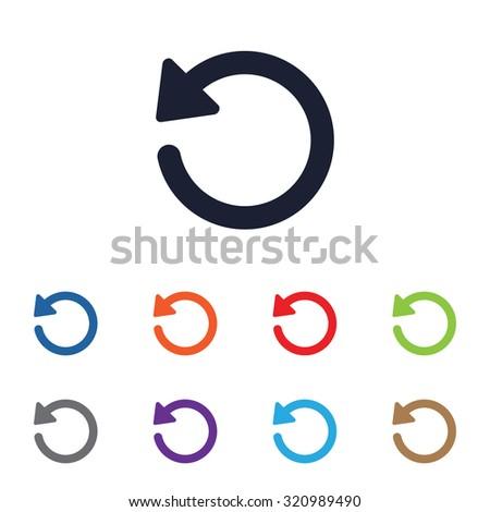 Undo icon for web and mobile - stock vector