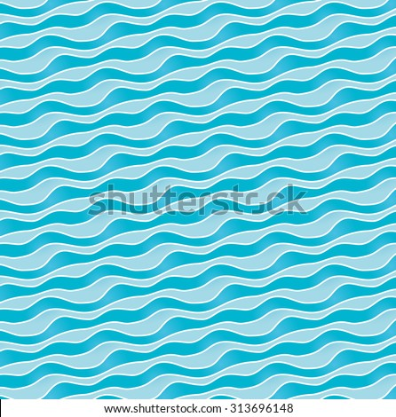 undulating forms - stock vector