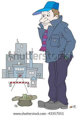 Unemployed - stock vector