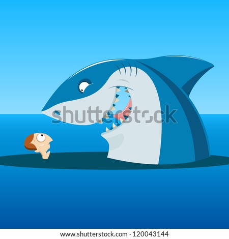 Unexpected meeting - stock vector